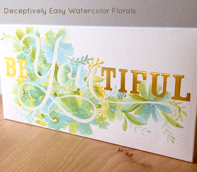 Deceptively easy watercolor flowers