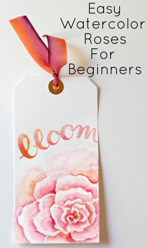 how to paint watercolor roses