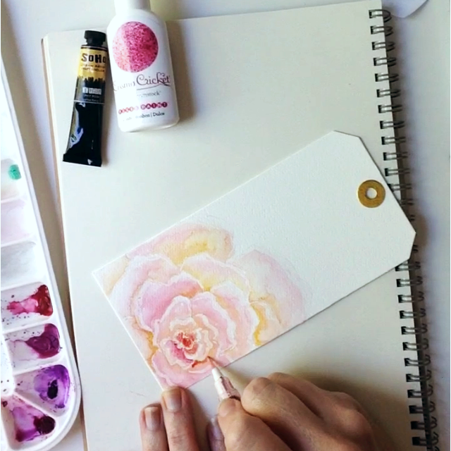 Watercolor roses for beginners
