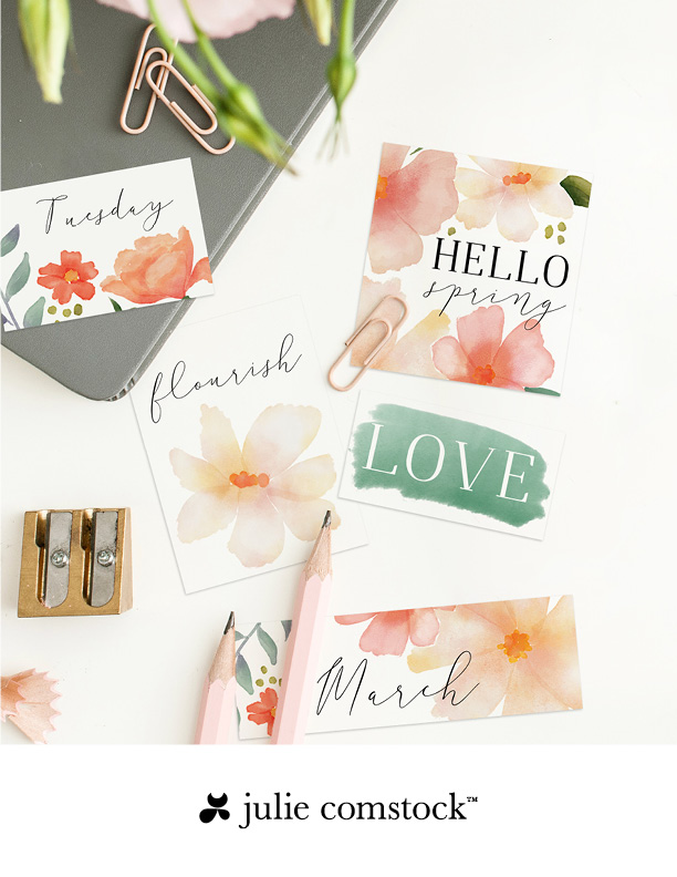 Free watercolor floral tags