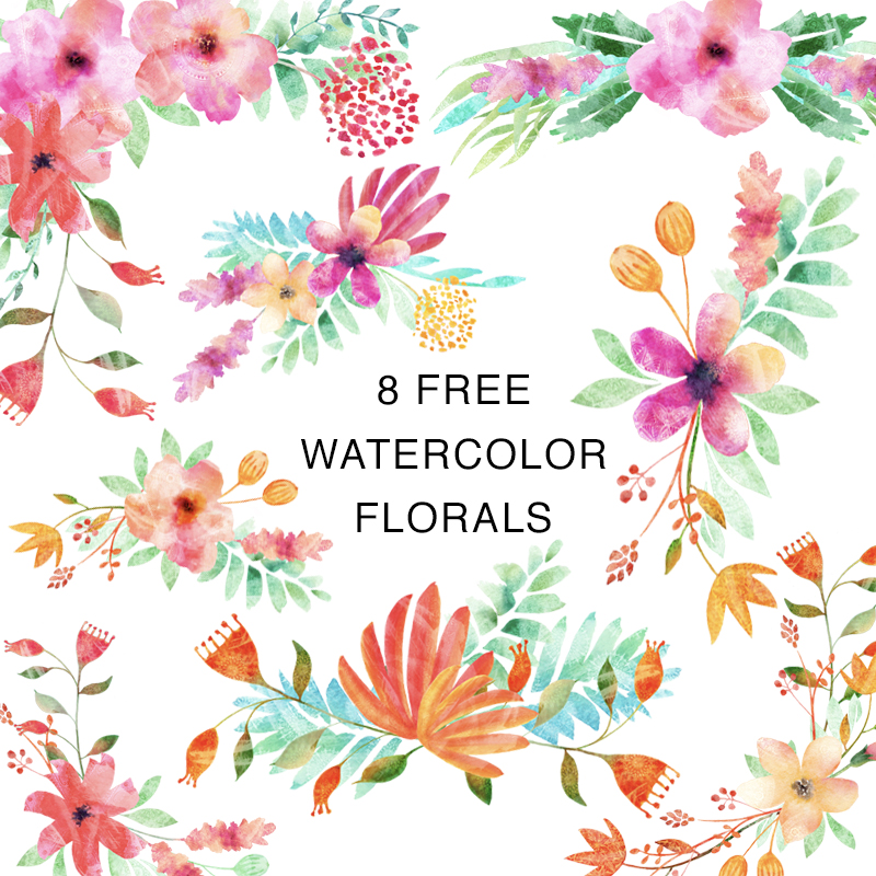 Free Watercolor Clip Art Florals.jpg