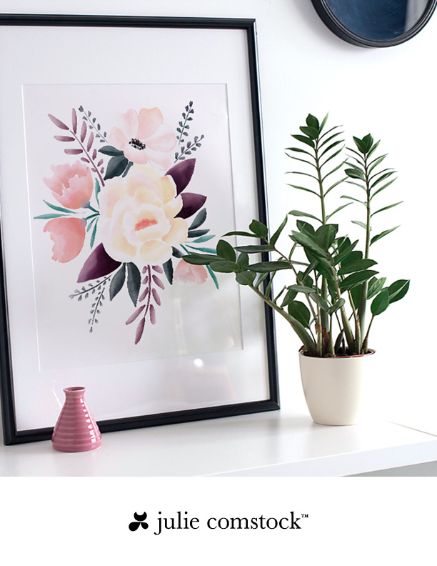 free watercolor wall decor julie comstock