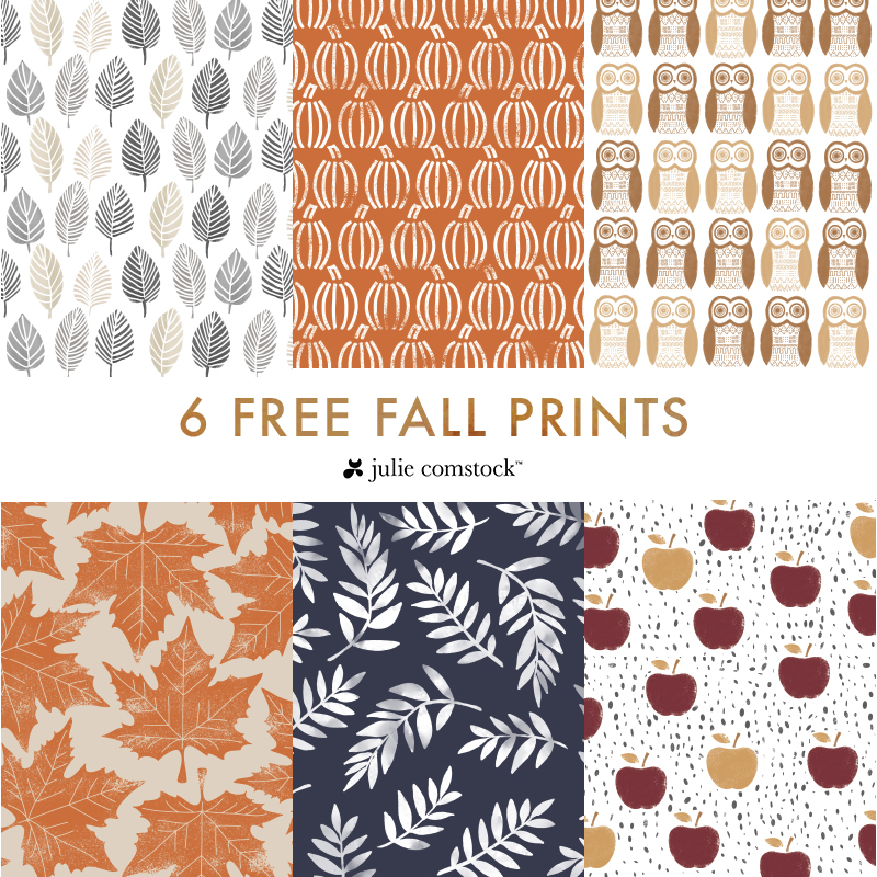 Free Fall Prints for home decor