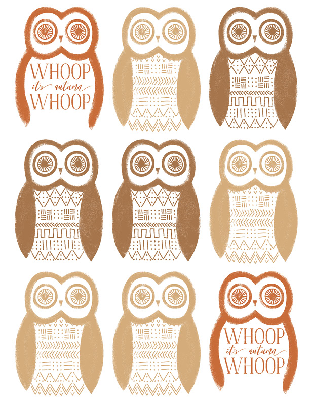 Free owl printable for fall