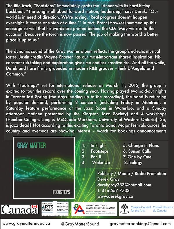 "Gray Matter ""Footsteps"" Press Release - Pg. 3"