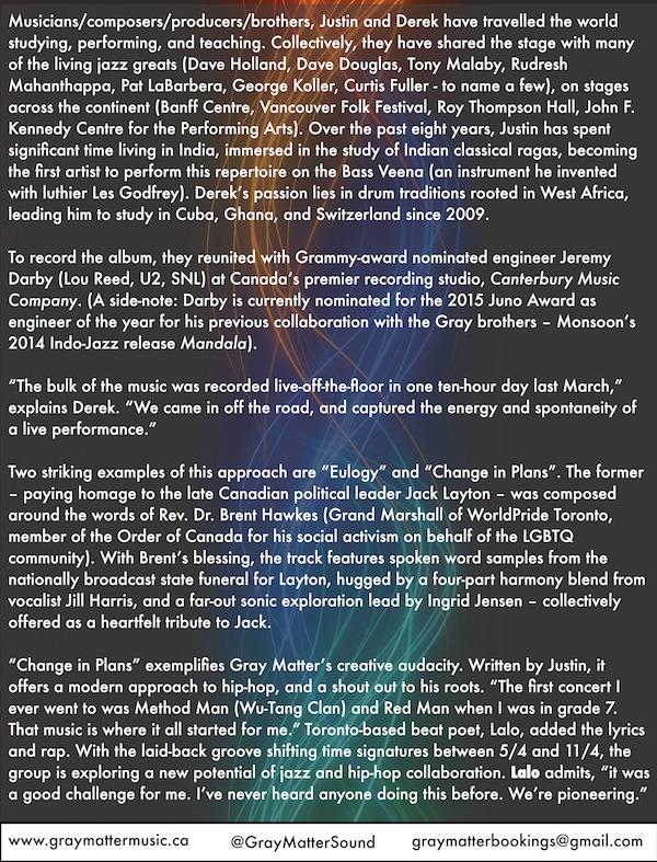 "Gray Matter ""Footsteps"" Press Release - Pg. 2"