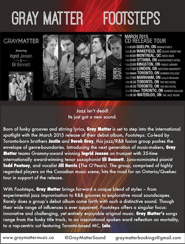 "Gray Matter ""Footsteps"" Press Release - Pg. 1"