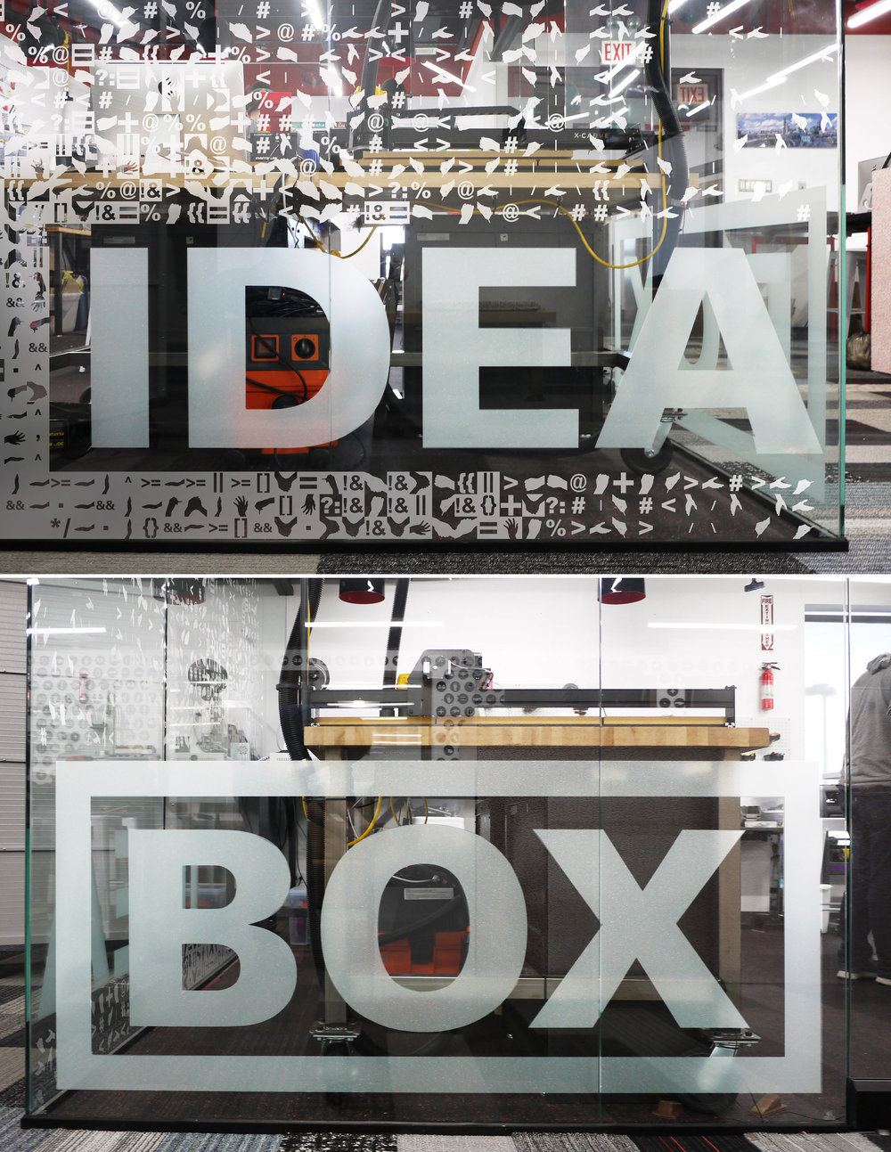 Makerspace Glass Wall - Commercial Interior Renovation, Chicago