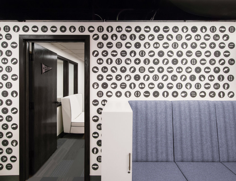 Felt Wall Installation - Commercial Interior Renovation, Chicago