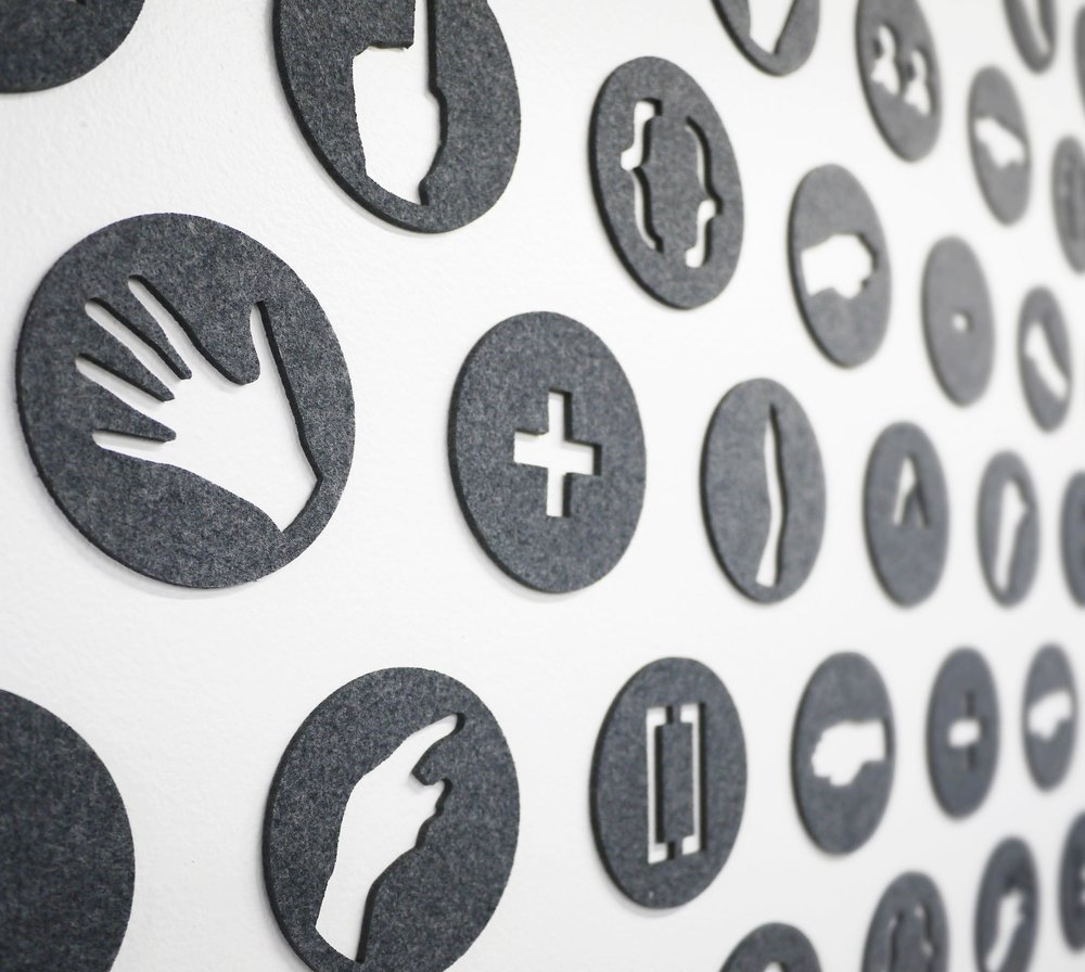 Mind + Hand - Detail of Wall Installation