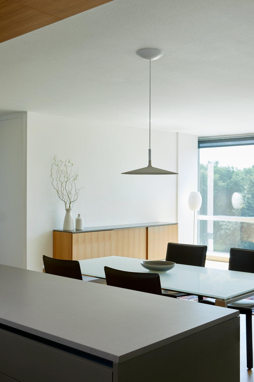 White Oak and Grey Kitchen - Apartment Renovation, Chicago