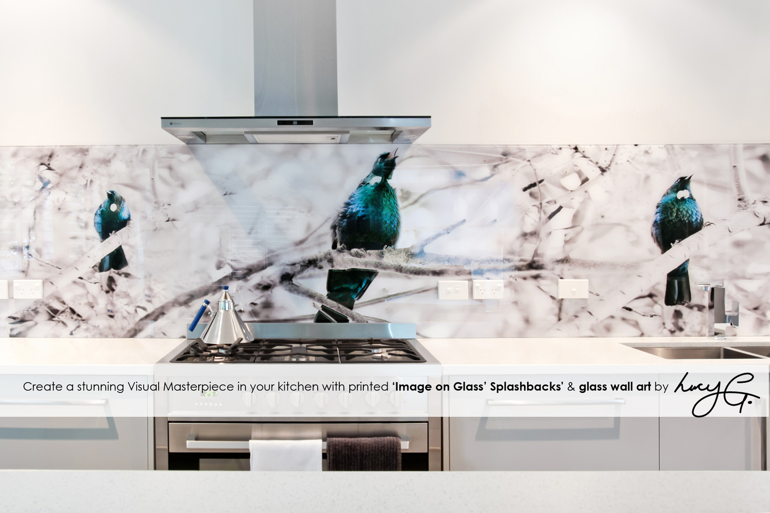 Printed \'images on glass\' kitchen splashbacks and glass wall art by ...