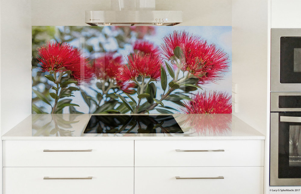 pohutukawa painted printed image on glass splashback lucy g.jpg