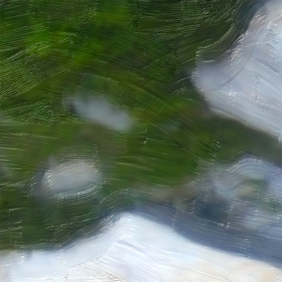 NAT 2016-18 Shotover River 1 (digital painting) - detail
