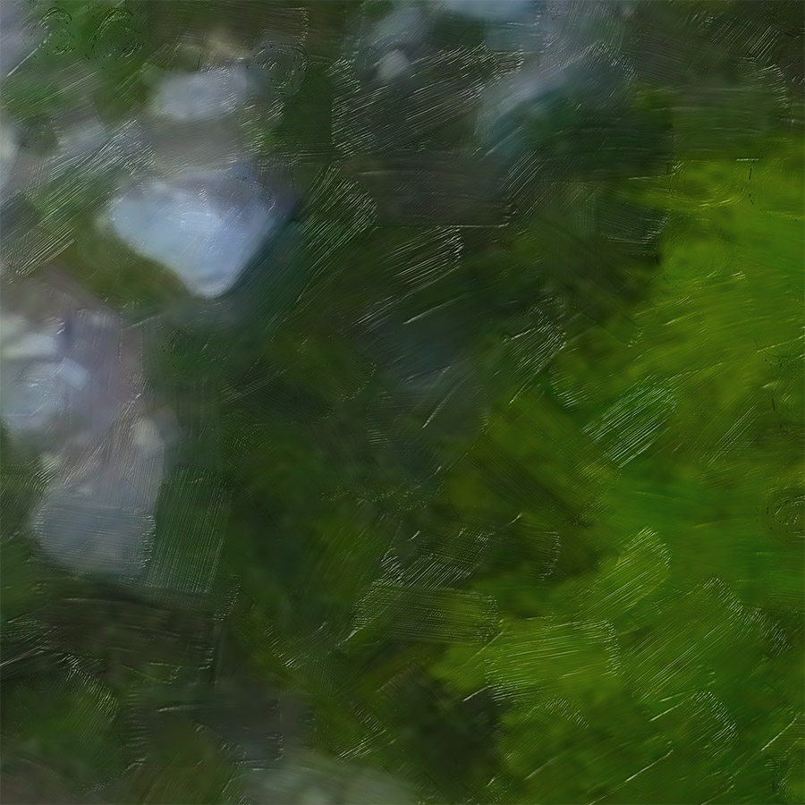 NAT 2016-18 Shotover River 2 (digital painting) - detail