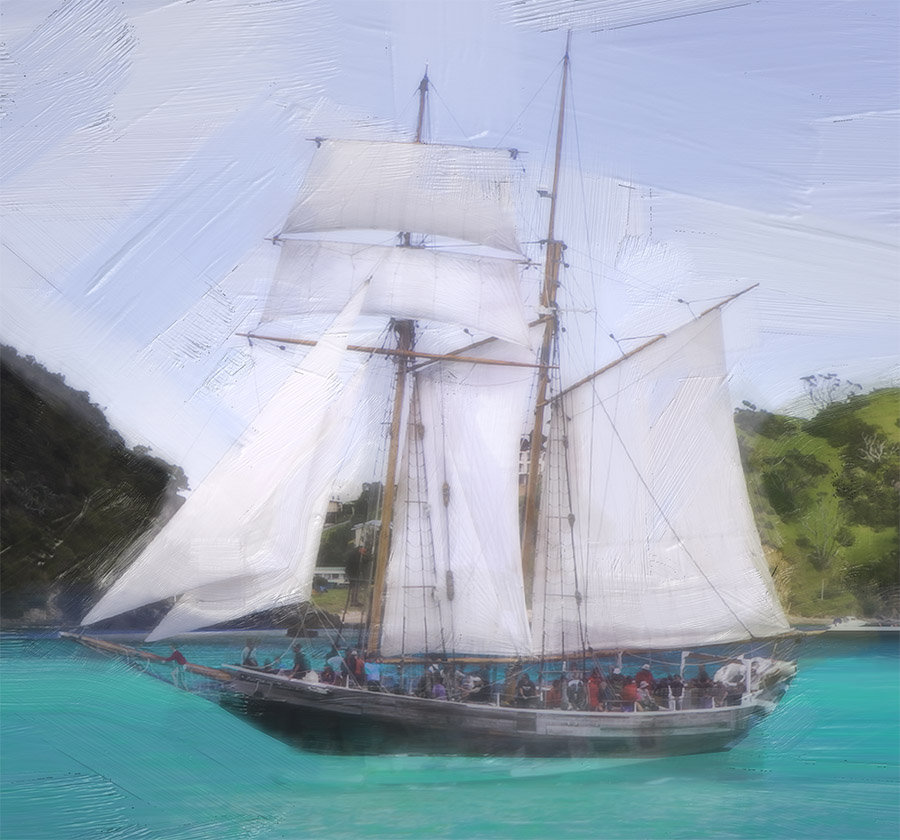 BOI-Sailing Race (digital painting) - detail