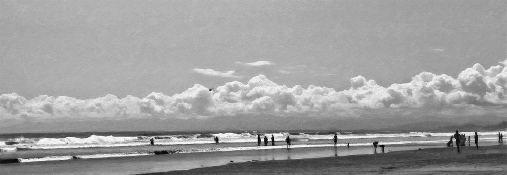 OHOPE-1  Summer Fun (digital painting) b/w
