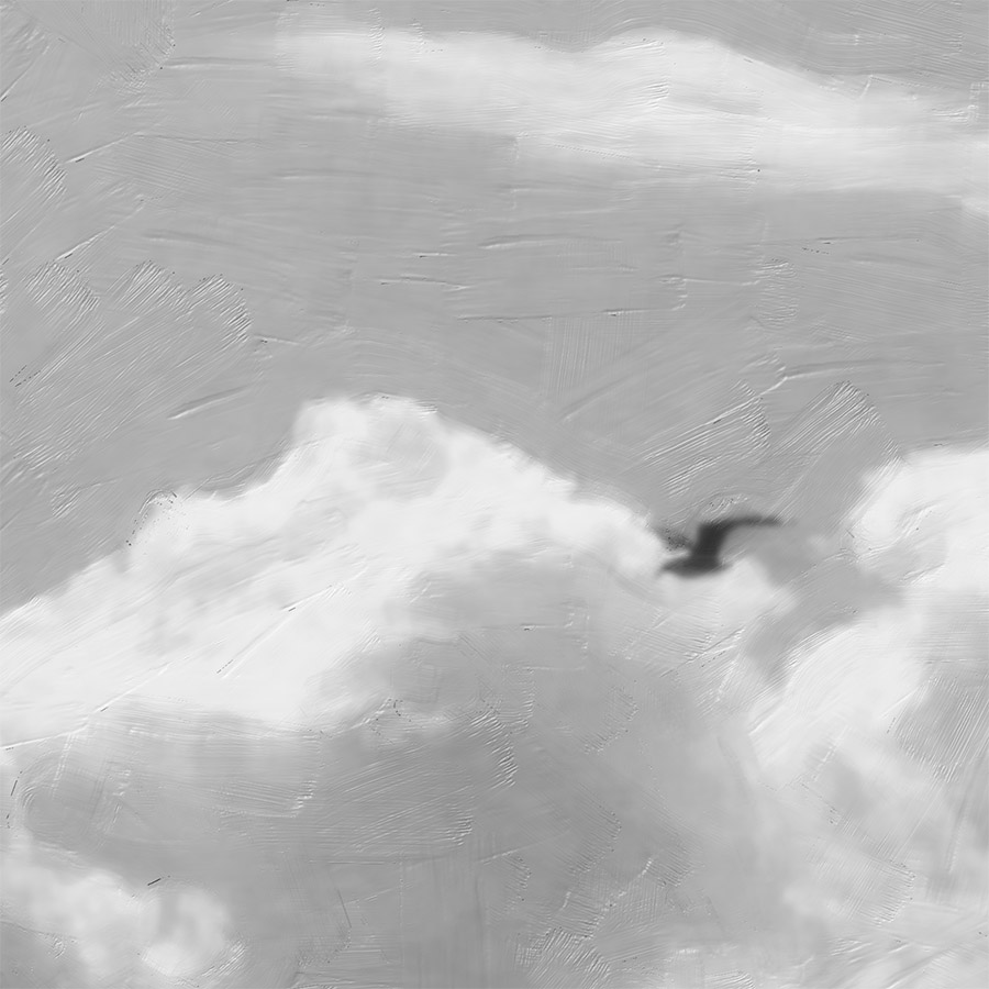 OHOPE-1  Summer Fun (digital painting) b/w - detail