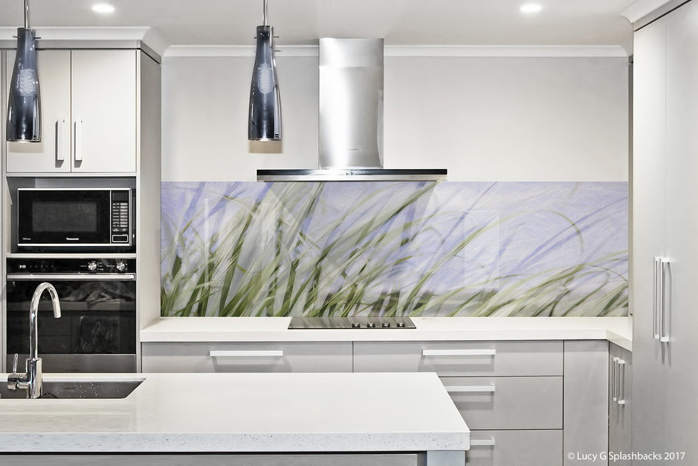 Printed image on glass kitchen splashback  - Adelaide,  Australia - Sand Dunes (colour)