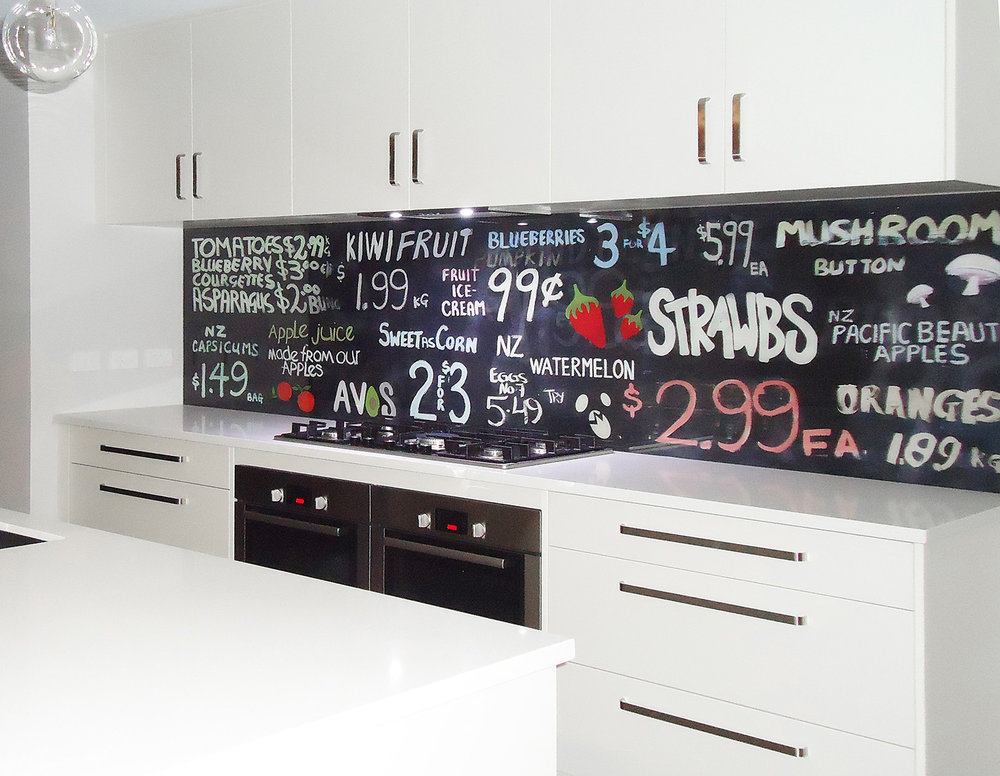 Printed image on glass kitchen splashback  - Melbourne,  Australia - 'Sweet As !'