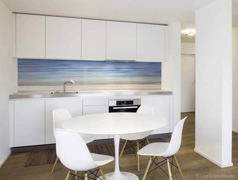 Printed image glass splashback, New South Wales, Australia - 'Tropical Waters A'