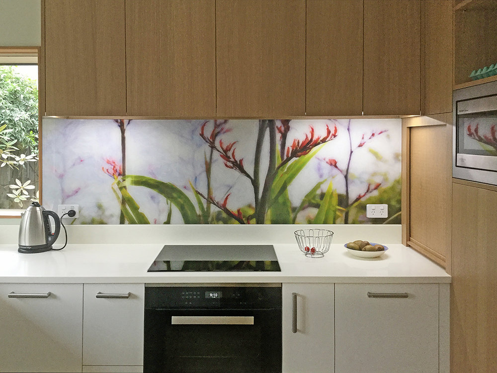 Flax Flower 1 (painted) - printed image splashback