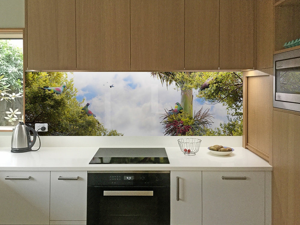 Birds of a Feather - kitchen splashback design
