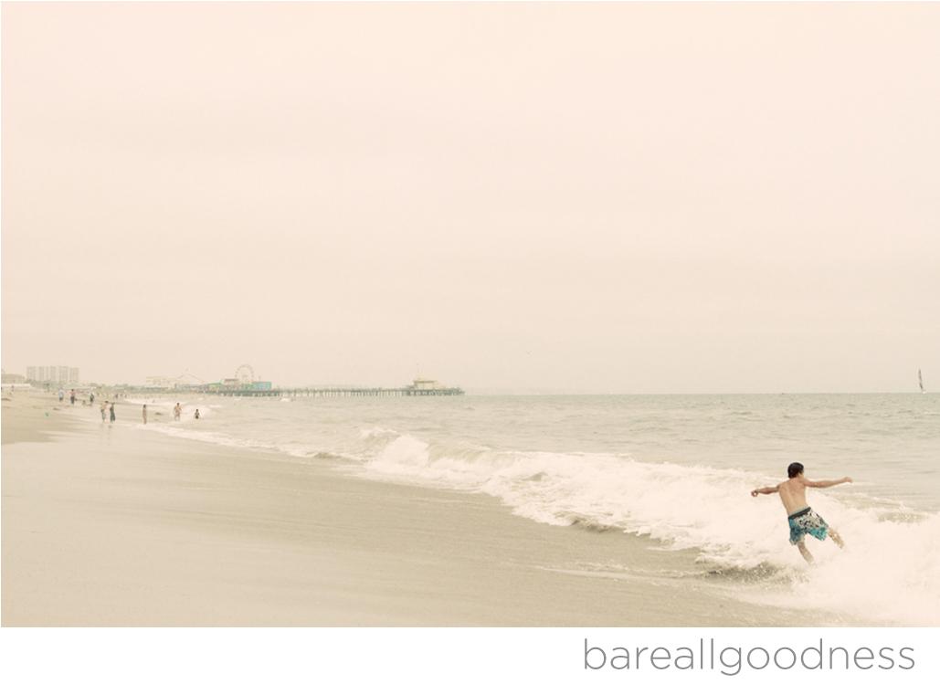 Santa Monica Pier Skim Boarder