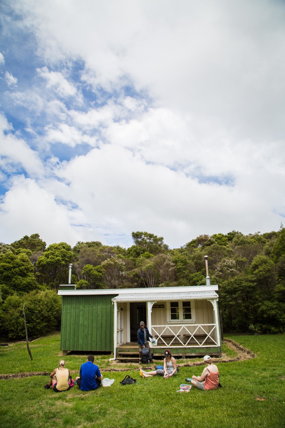 This was our lunch break at a DOC hut near the highest point north of Auckland.