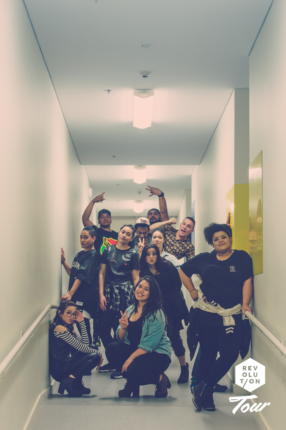 The crew backstage at the VCC concert