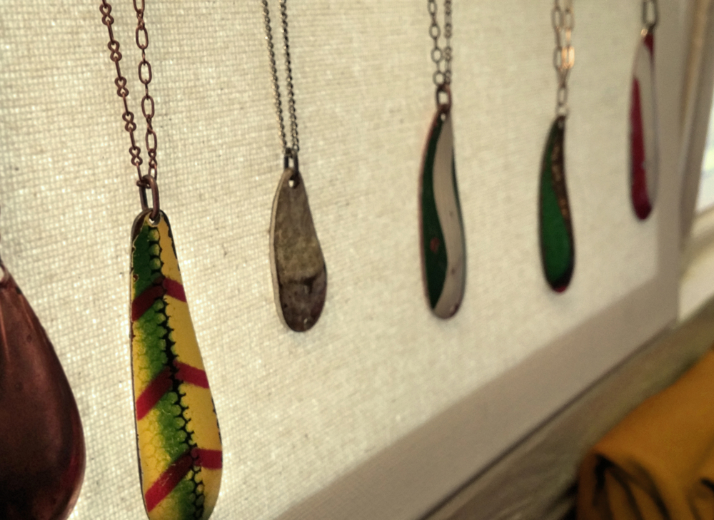 fishing lure necklaces by Monique Weston