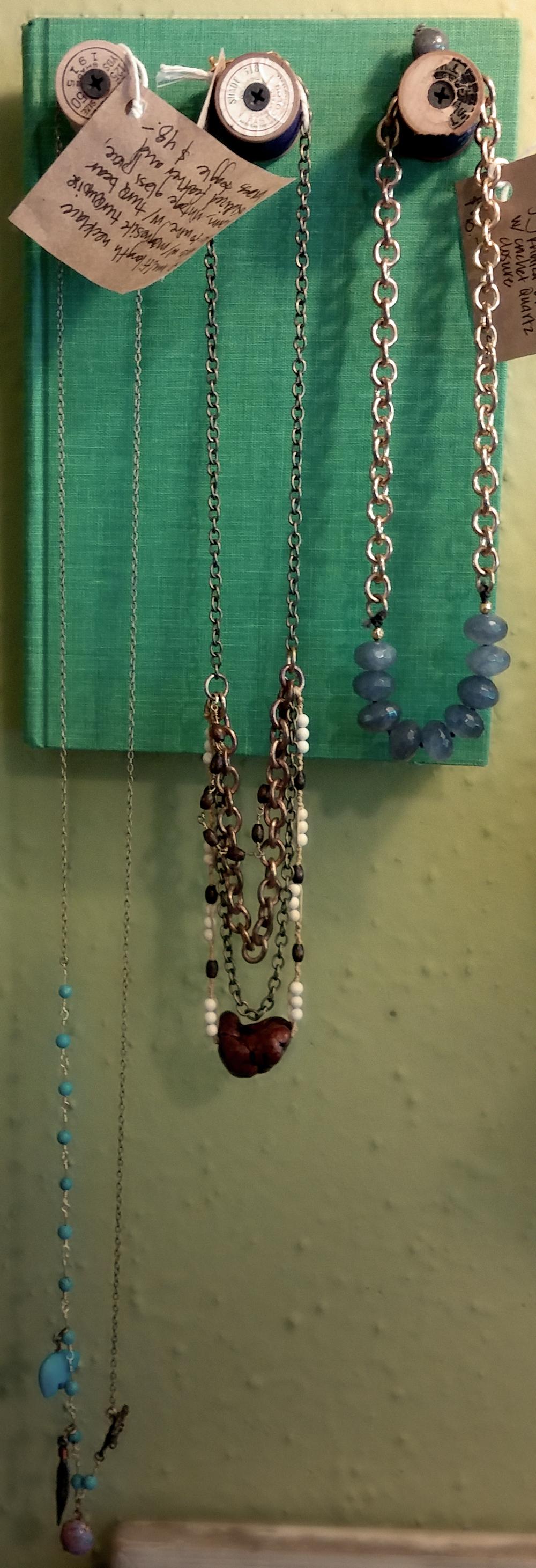 necklaces by Stephanie Deleonardis instagram @deleonartist