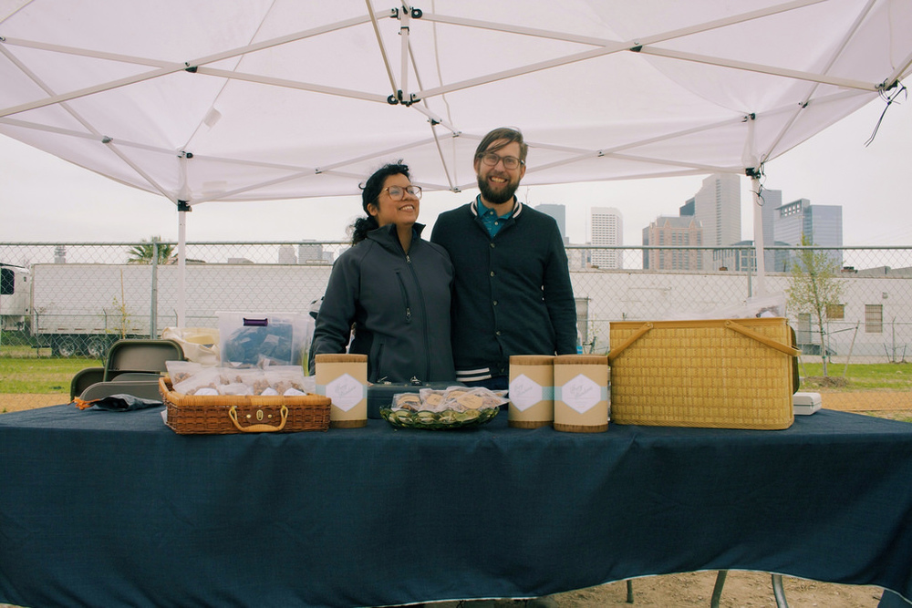 Alicia Gray makes granola from local flavors for Gray Gardens Pantry and Provisions booth.