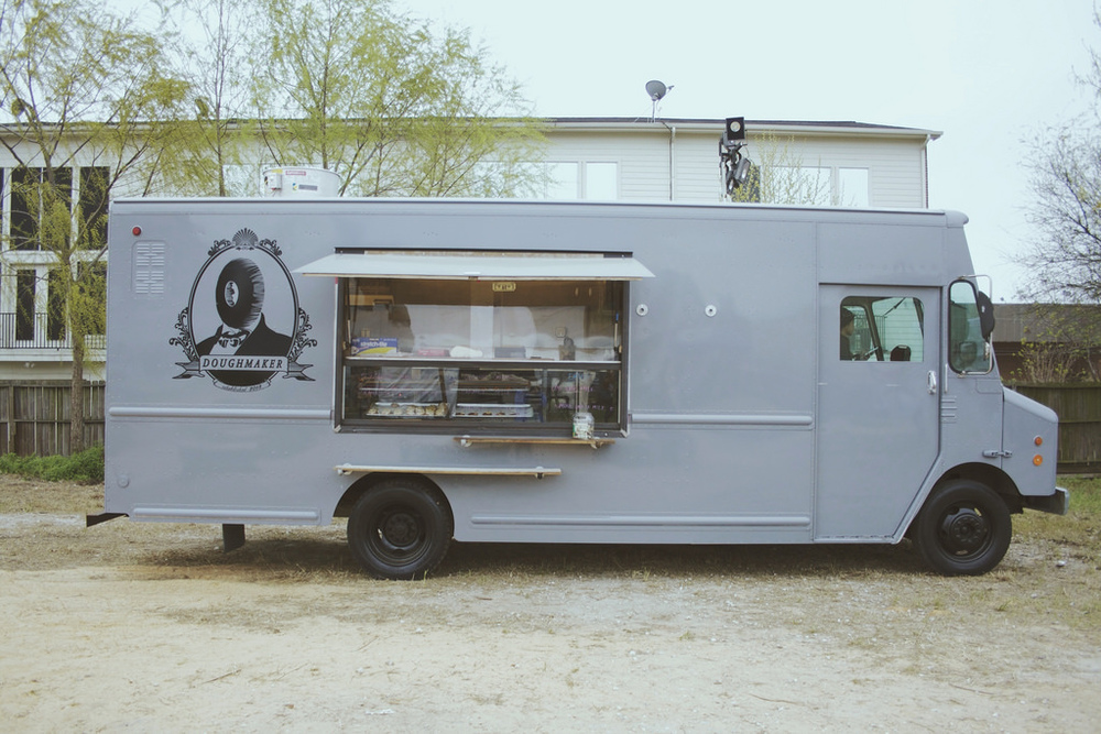 Doughmaker Food Truck has traditional doughnuts paired with locally produced cold-pressed milks and coffees.