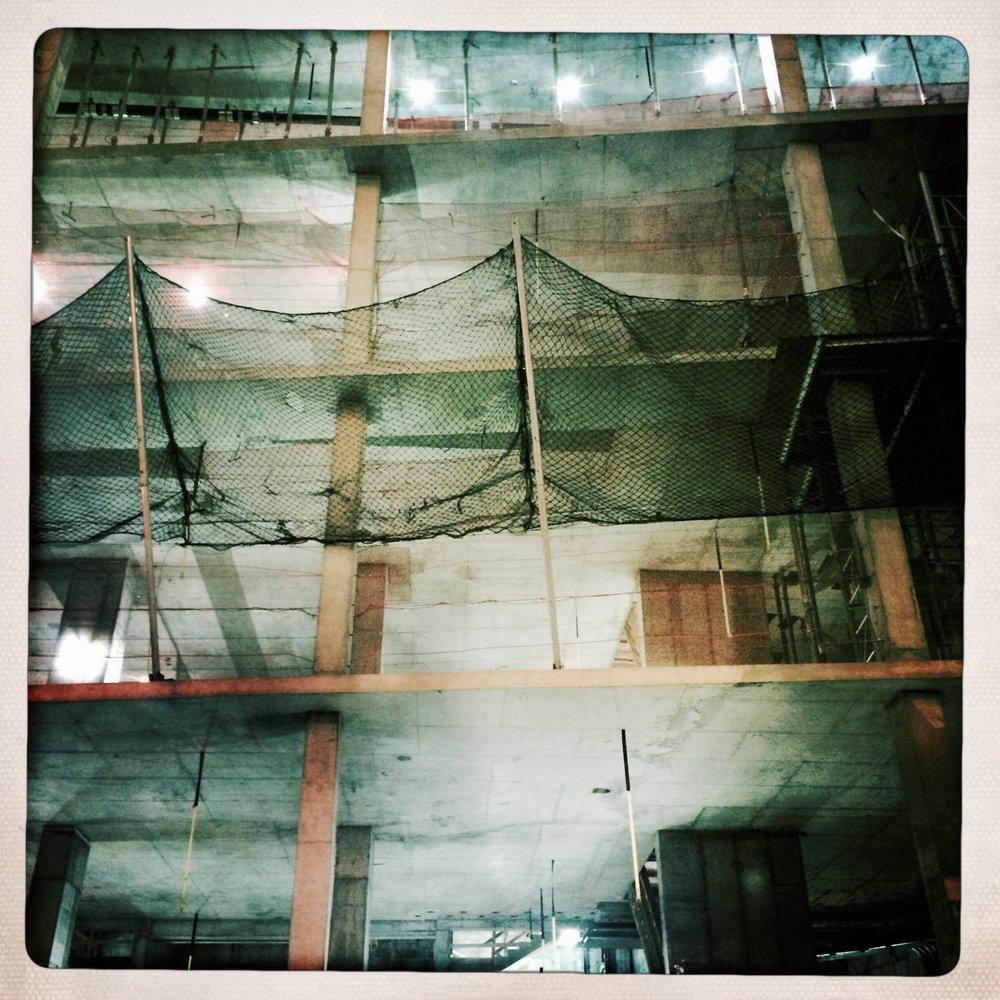 Construction in Lower Manhattan.