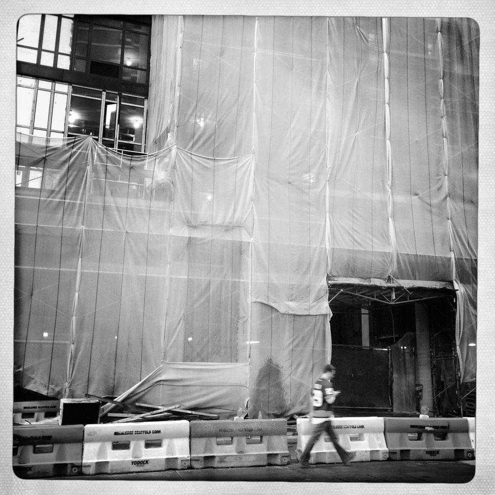 Construction, Fulton Street.
