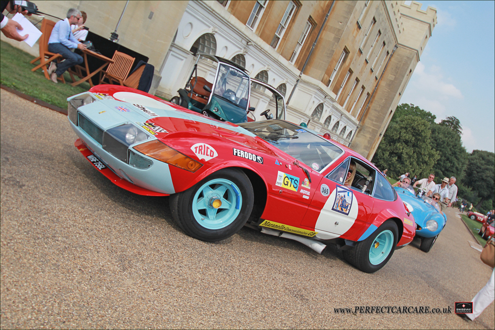 Completely road legal, 1972 Ferrari 365 GTB4C Daytona Competizione running a straight through and extremely loud exhaust system makes its way to the main stage.