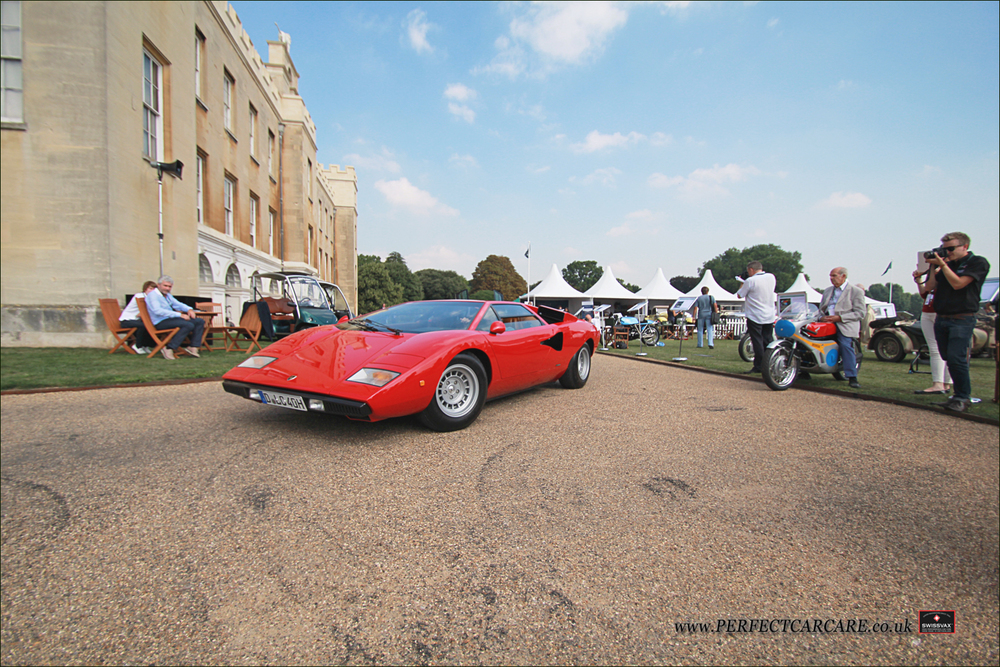 First in class was awarded to this perfectly restored 1975 LP400 Lamborghini Countach that had travelled over from Germany.