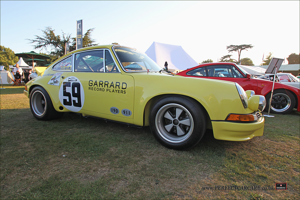 First in Class, 1973 Porsche 911 Carrera RSR in the porsche display area.
