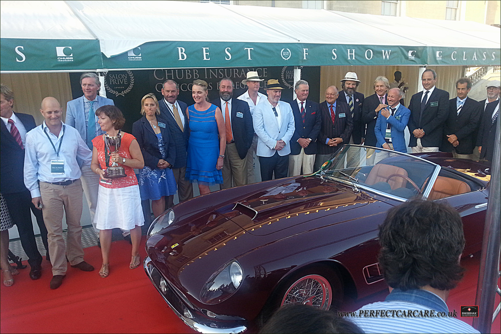 Best of Show winner Sarah Allen and her 1959 Ferrari 250 California Spyder LWB.