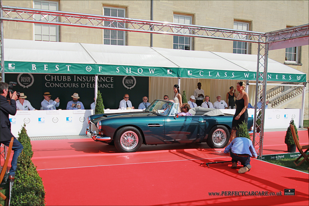 1963 Aston Martin DB4 Vantage Convertable on the main stage.