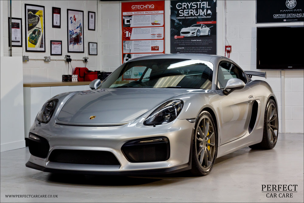 Porsche Cayman GT4 In GT Silver Was Drastically Improved Via A Two Stage  Polish And Gtechniq Coatings Including Crystal Serum And C0 Aerocoat.