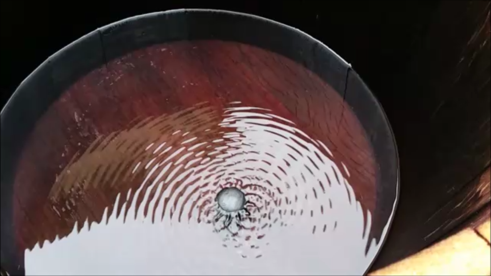 Vibration pattern from The Symphony within the barrel.