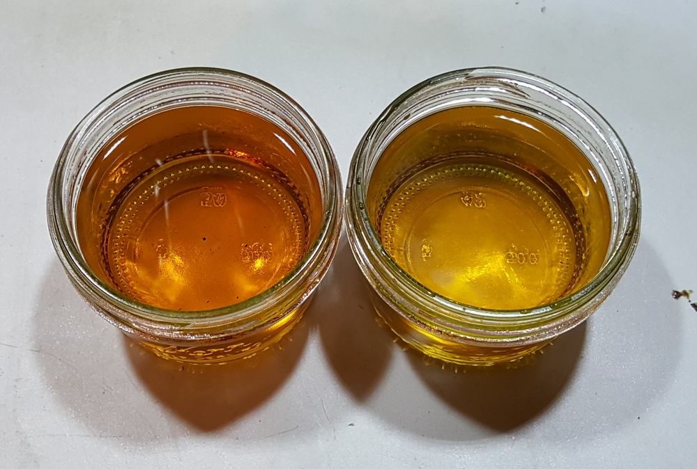 2 weeks in 5G barrels (#4 char) - Hertzbier on the left.