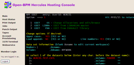 The Hercules Hosting Console in Action