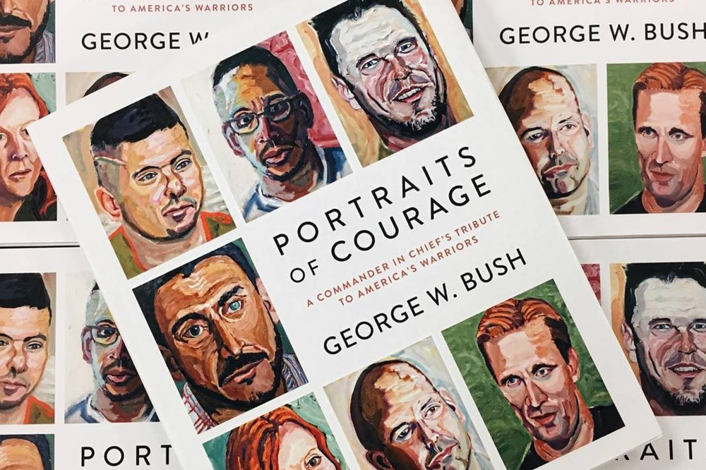 Portraits of Courage: A Commander in Chief's Tribute to America's Warriors Photo Credits: Instagram @portraitsofcourage