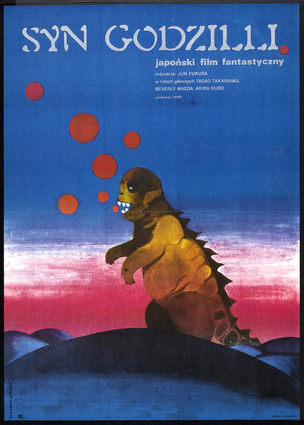 Son of Godzilla, 1967 (Polish-Version Poster)