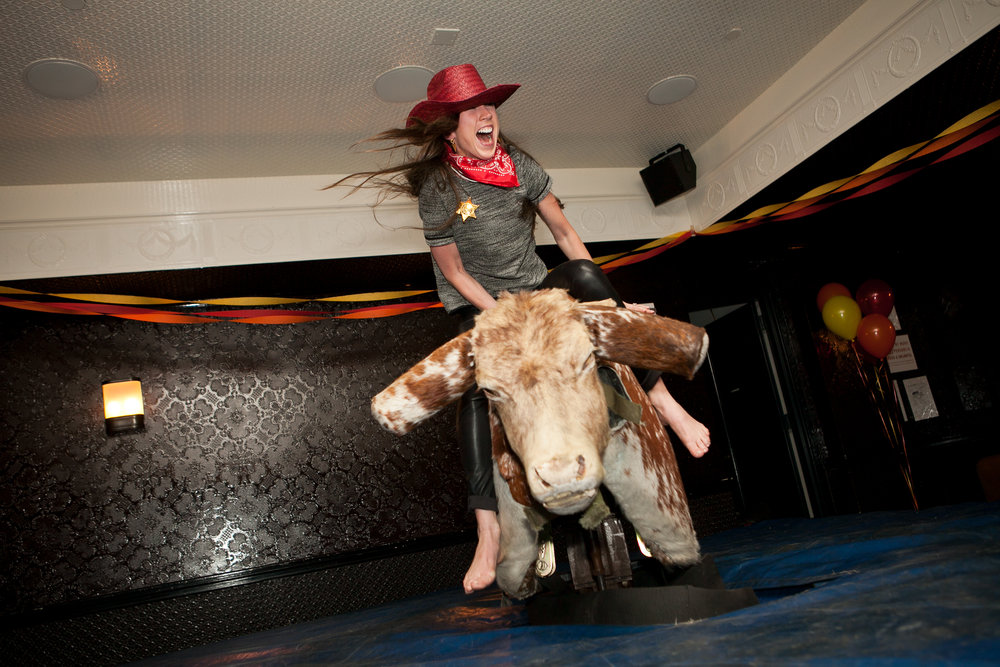 Urban Cowboy Party - Assignment: Create a unique birthday experience for native Texan in NYC.Outcome: Ideated and realized an urban cowboy-themed event with real mechanical bull at the Ace Hotel. The only mechanical bull ever at the hotel. The staff were amused. Attendees had a blast.