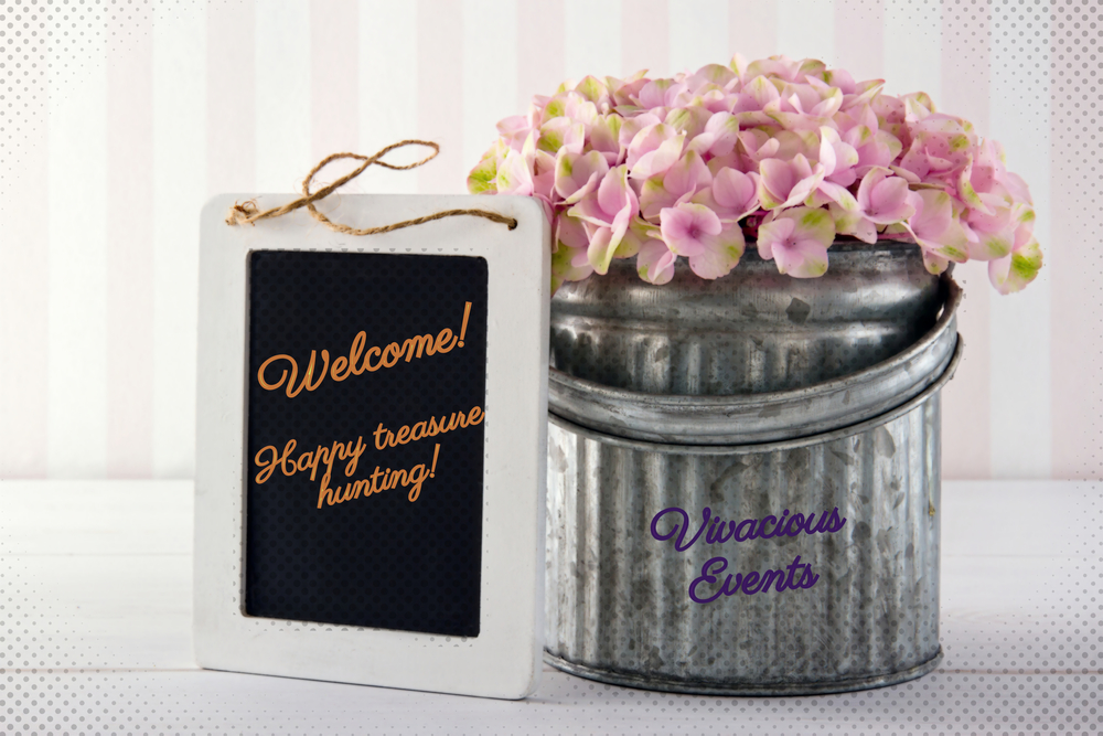 Welcome Chalkboard & Flowers