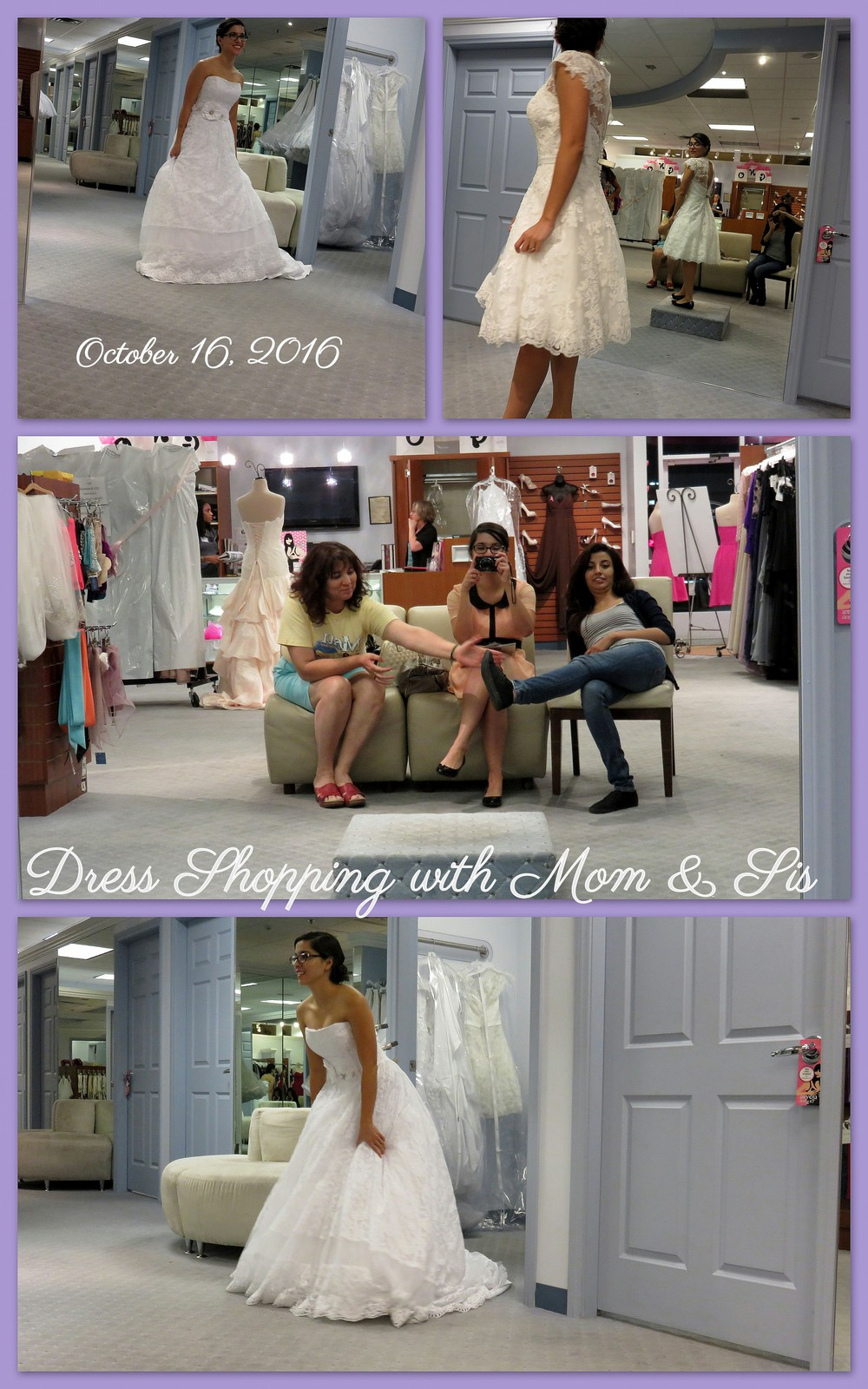 Dress shopping was so lovely!